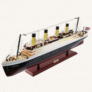 Titanic Model Decoration Living Room Simulation Cruise Ship Wooden Sailboat