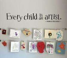 Every Child is an Artist Decal - Children Artwork Display Decal Picasso Sticker
