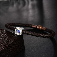 18ct White Gold Natural Untreated Sapphire and Diamond Unisex Bracelet £4900