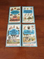 4x Vintage A.A. Milne Paperbacks - Winnie The Pooh/Very Young/Pooh Corner/Six