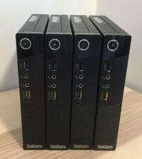 Lot of 4 Lenovo ThinkCentre M73 Tiny Desktop Computers i5 2.9 GHz - No RAM/HD