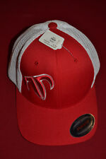 New Rank Bull Trucker Baseball Cap Flex Stretch Fit Red And White One Size