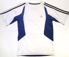 Adidas Kids Boys Exercise Work Out Tshirt Climacool Tee Size XL White Blue Sport