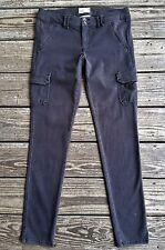 AMERICAN EAGLE Dark GRAY Soft Knit Stretch SKINNY CARGO Pants Size 8 ~ 31 x 30.5