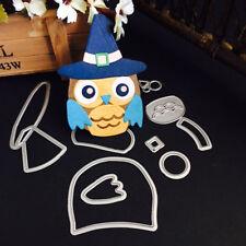 1pcs Christmas Halloween Metal Cutting Dies Stencil Scrapbooking Owl hat 90*91mm