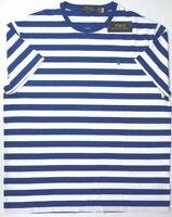 NEW $49 Polo Ralph Lauren Short Sleeve T Shirt Blue Stripe Cotton Tee Classic