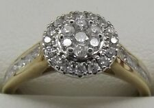 SOLID 10CT YELLOW GOLD NATURAL DIAMOND ENGAGEMENT/DRESS RING - VALUED AT $1975