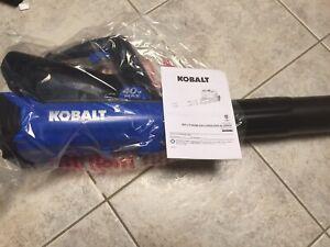 Kobalt KHB-350 40-Volt Lithium Ion 350-CFM 100-MPH Cordless Electric Leaf Blower