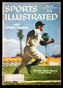 1957 Mickey Mantle Sports Illustrated personally owned by Furman Bisher VG-VGEX