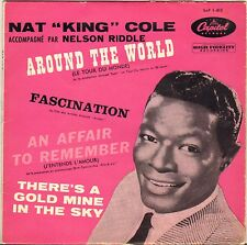 """NAT KING COLE """"AROUND THE WORLD"""" POP VOCAL JAZZ 50'S EP CAPITOL 1-813"""