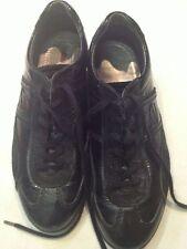 Ecco - scarpe nere con stringhe - pelle / tessile / altre materie - N° 38  USATE