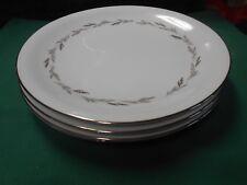 "Beautiful NORITAKE ""Graywood"" Platinum Trim....Set of 4 DINNER Plates"