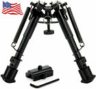 Tactical Rifle Bipod w/ 6-9 Inch Adjustable Legs and 360 Degree Swivel Adapter