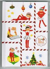 Elf On The Shelf Hardcover Notebook Journal Diary Lined Paper Candy Cane Stripe