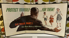 More details for 1950's goverment information poster protect yourself..... for them!