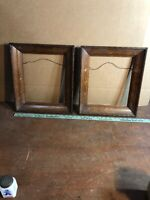 """Solid Vintage Pair of Oak Decorative Picture Frame Fits 10"""" by 12"""" Painting"""