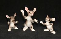 Bone China Japan Mice Mouse Family Figurines x3