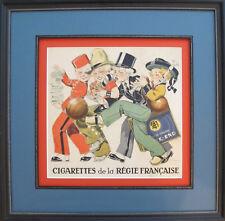 1930s French Vintage Art Deco Poster, REGIE FRANCAISE by Rene Vincent (framed)