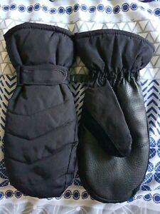 Mens Crane Winter Ski Snowboard Mittens Gloves - Black BNWOT