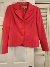 Ladies 2 pc rose colored dress suit lined by Le Seur sz.12/A+ condition