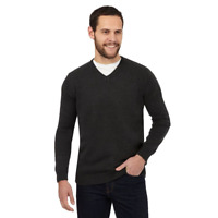 Men`s New Thomas Nash Lambswool Blend Jumper Size Medium V-Neck
