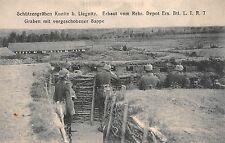 Schützengraben Kunitz bei Liegnitz L. Int. Regt. 7 Graben mit Sappe 1. WK