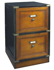 "Campaign Files Black Filing Cabinet 28"" Authentic Models Nautical Furniture"