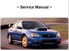 Subaru Impreza Factory Service Repair Manual OEM CD 2004 Wrx Sti Ej20 Ej25 93-07