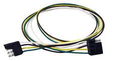 "48"" 4 Flat Trailer Extension Male/Female Plug wire cord Trailer Wire 4-Wire Pin"