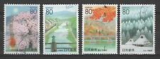 Japan Z437-440 Four Seasons Kyoto [Prefecture 2000] [4 USED Stamps]