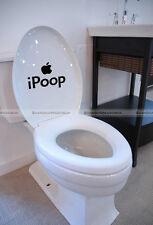 Funny Toilet DIY Ipoop Wall Art Home Bathroom Sticker Decor Black #SM8-WALLS151