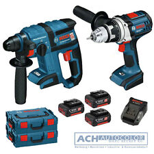 BOSCH Akkuschrauber GSR 18 VE-2-Li + Bohrhammer GBH 18 V-EC +3 x Akkus +LBoxx