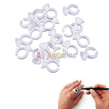 50pcs Disposable Glue Ring For Eyelash Extension Tattoo Adhesive Pigment Holder