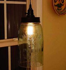 Vintage Rustic BIG Gallon Mason Jar Open Bottom Industrial Pendant Light Lamp