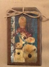 5 WOOD PriM Country Christmas Ornaments,HangTags,Winter Ornies HANDCRAFTED SET41