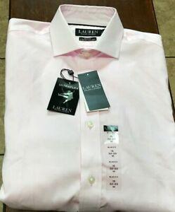 NWT Ralph Lauren L/S button shirt size 15 - 32/33 S pink slim fit