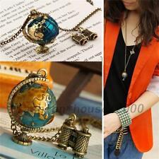 Style vintage pivoter Globe Télescope collier chaîne pendentif charme Dangle Cadeau