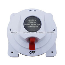 12V~24V White Dual Battery Selector Switch 4 Positions for Marine Industrial