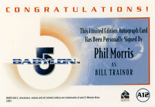 The Complete Babylon 5 Autograph A12 Phil Morris as Bill Trainor