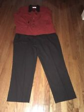 Kasper Suit sz 22w Top And 20w Pants Two Piece