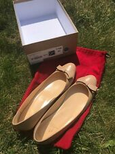 Christian Louboutin Simplenodo Nude Beige Classic Flat With A Bow Sz 40.5 (10)