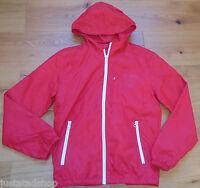 Quiksilver boy water repellent coat raincoat jacket 11-12 y red New BNWT