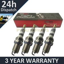 4X doppio Iridium Spark Plugs per TOYOTA YARIS 1.3 ventricolare R SINCRONIZZATO-I 2010 in poi