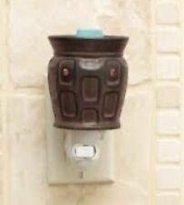 "Scentsy ""STRATA"" Brown Ceramic Contemporary Plugin Wall Night Lite Wax Warmer"