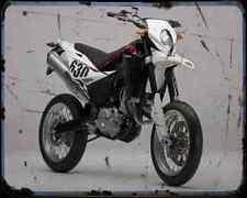 Husqvarna Sm 630 10 A4 Metal Sign Motorbike Vintage Aged