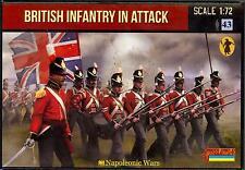 Strelets Models 1/72 NAPOLEONIC BRITISH TROOPS IN ATTACK Figure Set