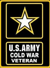 "U.S.Army Cold War Veteran ( Army Star) embroidered patch 3.25"" x 4.25"""