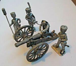 1/30 Napoleon with Gun French Field Artillery de 6 système An XI Crew Tin Metal
