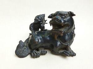A Chinese Or Japanese Bronze Lion Qilin 青铜狮子