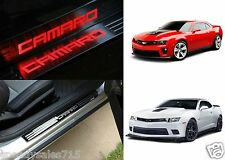 Red LED Illuminated Door Sill Scuff Covers For 2011-2015 Chevrolet Camaro New